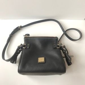 Dooney & Bourke Black Leather Mini Crossbody Bag